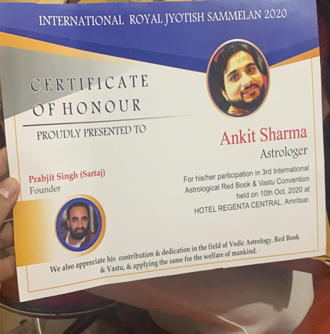 Astrology Red Book and Vastu Convention Award