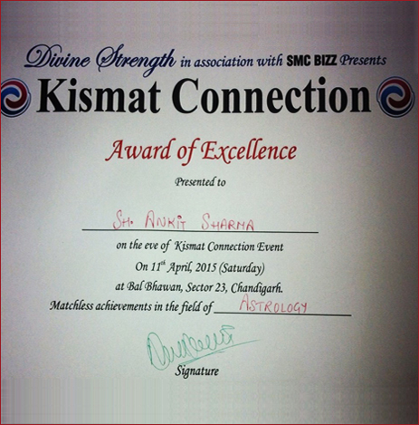 Kismat Connection Award of Excellence