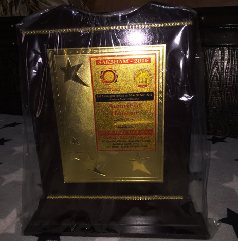 SAKSHAM-2016 Award