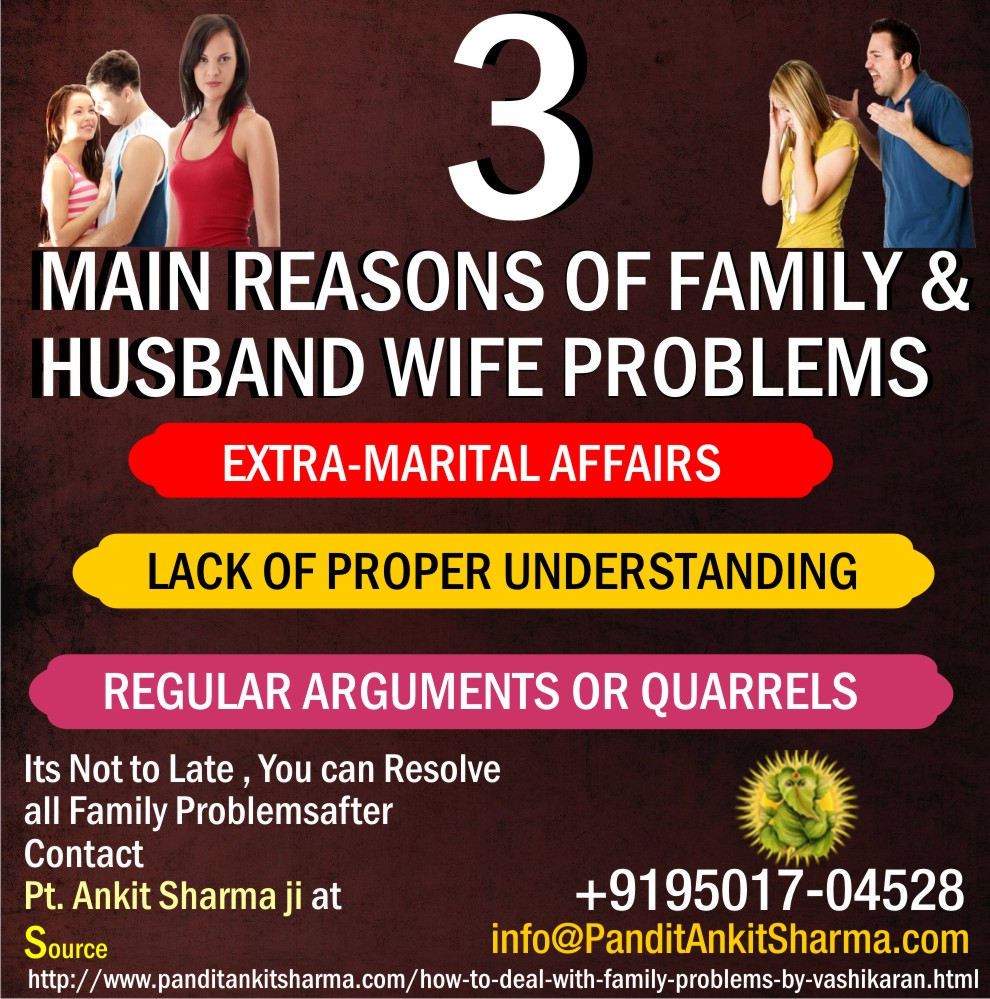 3 Main Reasons of Family and Husband Wife Problems
